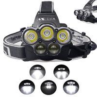 30000LM 5x XM-L T6 LED 6 Modi Scheinwerfer Wiederaufladbar Kopflampe Headlamp DE
