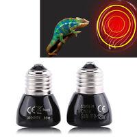 50W Heated Bulb Pet Reptile Breeding Ceramic Emitter Heater Light Lamp Black OB