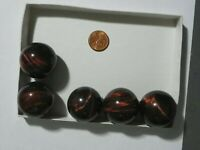 Tigereye Marble 32 MM Red Brown Color Lots of Chatoyant Flashes One Piece