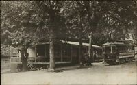 Asbury Grove MA Caf' & Trolley Car c1910 Postcard