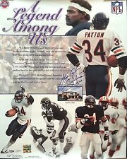 WALTER PAYTON SIGNED CHICAGO BEARS 16X20 PHOTO W/ 2 INSCRIPTIONS!! PSA/DNA LOA