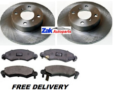 FOR SUZUKI WAGON-R 1.2 1.3 (2000-2008) TWO FRONT BRAKE DISCS AND PADS SET NEW