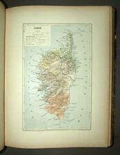 ATLAS DES DEPARTEMENTS DE LA FRANCE cartes ancienne 19eme siècle en couleur