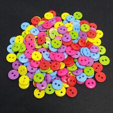100PCS 2 Löcher 9mm Multi-Farbe Handwerk Nähen Knöpfe Kleidung Nähen Werkzeuge