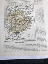1923 Map of Forfarshire Original Old Vintage 97 Years Forfar Glen Isla Tulchan