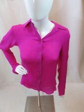 Jay Godfrey Pink Silk Lace Up Blouse Top Size 0