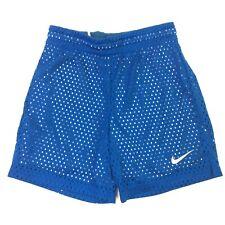 Nike Dri-Fit Girls Blue and Gray Mesh Training Shorts Size SM NEW