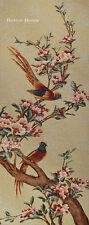 """40"""" WALL TAPESTRY Birds of Paradise on Sakura - JAPANESE CHERRY BLOSSOM TREE"""