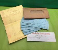 1929/30 Union National Bank Frenchtown , NJ Canceled Checks , Statement,Envelope