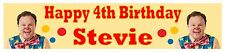 """Personalised Mr Tumble Party Banner (21cm x 90cm / 8"""" x 36"""")"""
