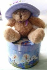 Avon Hat Box Teddy F526081 Bear & Box - Never Displayed - Sealed!