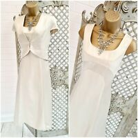 PHASE EIGHT 💋 UK 10 Oyster Pearl Dress & Jacket Suit Mother of Bride / Groom