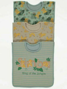 Pack of 3 Disney 'The Lion King' Baby Bibs 3+months