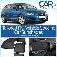 AUDI A3 5DR 2003-2012 UV CAR SHADES WINDOW SUN BLINDS PRIVACY GLASS TINT BLACK