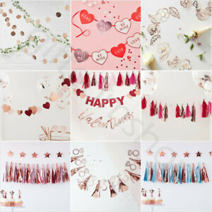 Valentines Day Decorations Party Garland Bunting Banner Valentines Decorations