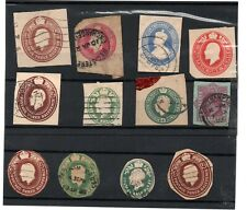 GB Collection of 12 x Embossed Stamps as scan