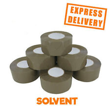 72 ROLLS SOLVENT BIG TAPE BROWN BOX SEALANT 48MMX150M *LARGE PARCEL PACKING*