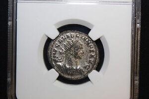 Aurelian AD 270-275 Roman Empire BI Aurelianianus NGC XF Women offers wreath