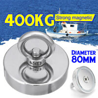 Stainless 80mm 880LB 400kg Super Strong Neodymium Magnet Fishing Detector
