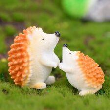 Hedgehog Resin Miniatures Home Garden Décor Figurine Animal Children Toy Statue
