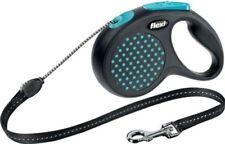 Laisse rétractable (à enrouleur) bleus en corde pour chien