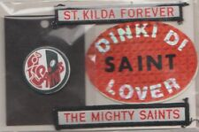 AFL- ST.KILDA / TEAM SUPPORTERS /METAL BUTTONS,DUFFLE COAT TAGS & BUMBER STICKER