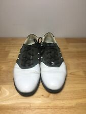New listing Mens Adidas Black and White Lace Up Golf Shoes Size 9!