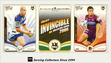2006 Select NRL Invincible Trading Cards Base Card Full Set (182)