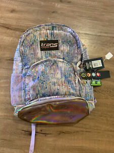 """Trans by JanSport 17.5"""" Overt Backpack Book Travel Bag Purple Crystal Palace NWT"""