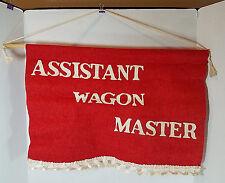 Vtg Five Star Winnebago Assistant Wagon Master Banner Flag RV Club Caravan