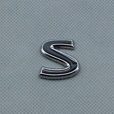 Black Metal Sport S Logo Rear Tailgate Trunk Emblem Badge For Q50 Q50L Q30 Q70