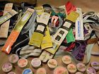 Vintage LOT of 78 new & used ZIPPERS, 5