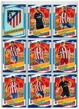 18x  Atletico Madrid Team Set  Match Attax Championsleague 16/17