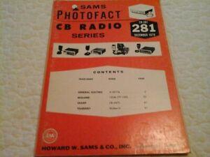 VINTAGE SAMS PHOTOFACT CB RADIO SERIES  CB-281 December, 1979