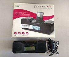 FASHIONATIONS UNIVERSAL CLOCK RADIO WITH IPOD DOCK FN-CR5010