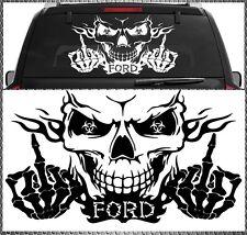 Skull FORD Power Aufkleber Sticker Totenkopf Heckscheiben 58x34cm Focus Fiesta