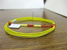 25 feet solid 30 AWG Yellow PTFE Wire Nickel Plated High Temp Gore