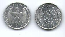 200 Mark, 1923 G, Deutsches Reich, Inflation, Aluminium, Münze    /a