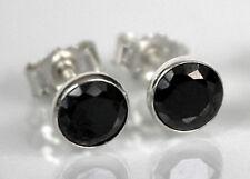 925 ECHT SILBER *** Ohrstecker Zirkonia schwarz  5,5 mm