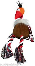 PLUSH ROOSTER DOG TOY WITH ROP LEGS 42 CM 35792