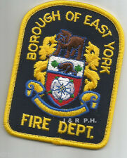 """Defunct - Borough of East York - Gold, Canada  (2.75"""" x 3.75"""" size)  fire patch"""