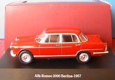 ALFA ROMEO 2000 BERLINA 1957 RED ALFA STARLINE 1/43 ROT ROSSO ROUGE ITALIE
