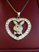 Sterling Silver & Crystal Bunny Pendant and Chain 18 inches