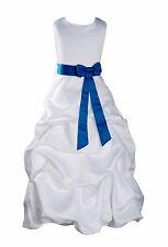 Bianco e Blu Scuro Fascia, Da Damigella D'onore, Per Festa