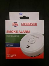 Smoke Alarm Fire Detector 9V PSA Photoelectric Boat Caravan Portable RV Camper
