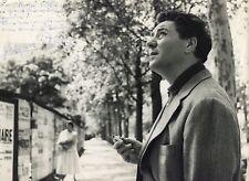 Photo Andre Villers - Jacques Pills - Tirage argentique 1950's - Dédicace -