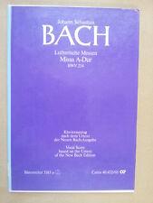 vocal score BACH Missa A Dur Lutherische Messen BWV 234 Baerenreiter 5183a