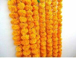Artificial Marigold Flower Garlands 4.5 Feet Long, for Parties Event DECORATION