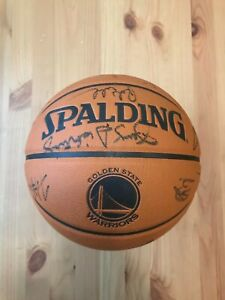 Stephen Curry + Golden State Warriors 2010-11 Autographed Basketball