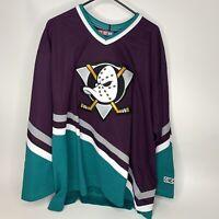 Authentic Anaheim Mighty Ducks CCM Jersey Disney Vintage 90s Air-Knit Men's XL